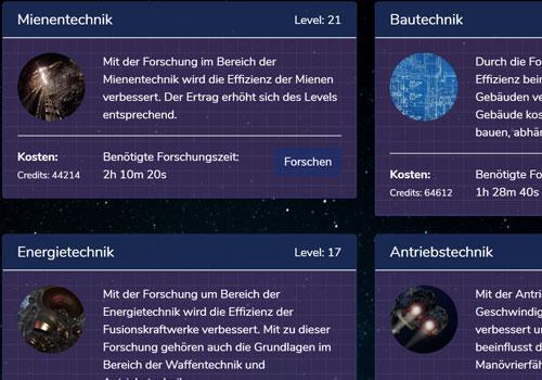 GalaxyExpanse Forschungen